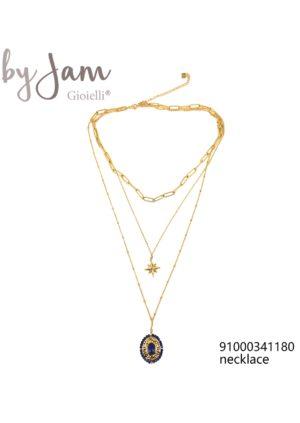 3-in-1 ketting goud hanger ster blauw By Jam