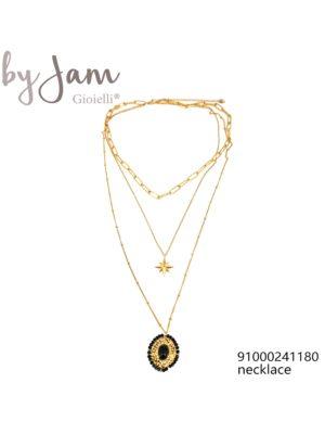 3-in-1 ketting goud hanger ster zwart By Jam