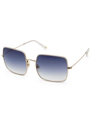 Adele zonnebril- blauw goud- IKKI