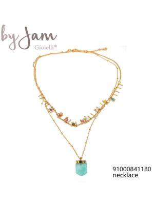 By Jam ketting stone mint goudkleurig