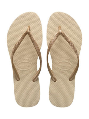 Havaianas slim sand grey.light golden