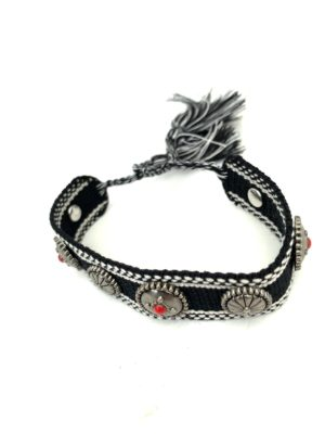Armband Ibiza Button black