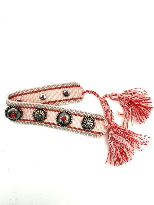 Armband Ibiza Button pink