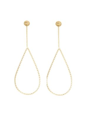 IXXXI Ear Studs Oval Chain Twist goud