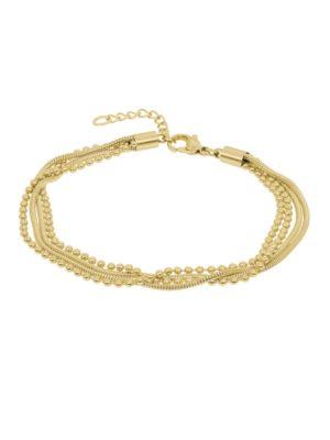 IXXXI Jewelry Armband Snake Ball Slim goudkleurig 17-20cm