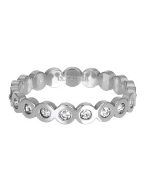 IXXXI ring bing circle stone zilver