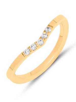 Melano Friends Charly CZ Ring goud