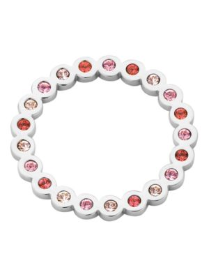 Melano circle hanger roze zilver