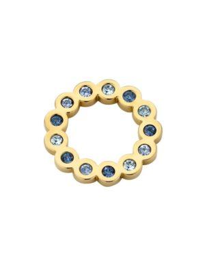 Melano hanger circle goud blauw 15 mm