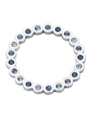 Melano hangertje Circle zilver blauw