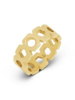 Melano vivid vayen ring goud