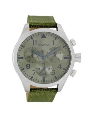 OOZOO Timepieces C6798 - Horloge - Olijfgroen - 45 mm
