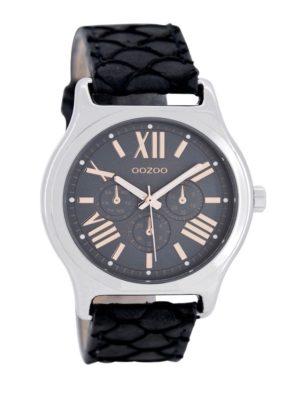 OOZOO Timepieces Dark Blue Snake horloge C7612 - Leer