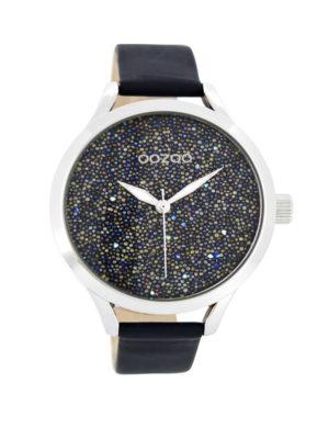 OOZOO Timepieces Donkerblauw Horloge C8648
