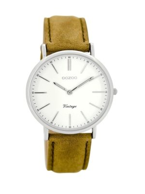 OOZOO Vintage Bruin:Wit horloge C8144