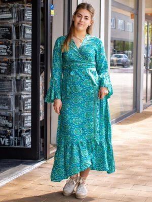 Omslag ruffle jurk