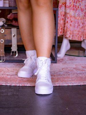 Trendy sneaker hoog wit