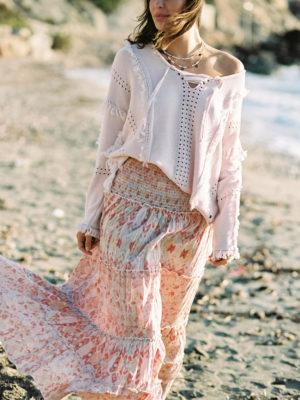Vintage Maxi Skirt Kilim- Tapastery & Ikat