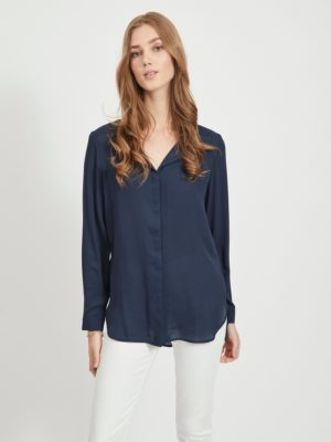 Vila vilucy l/s shirt total eclipse