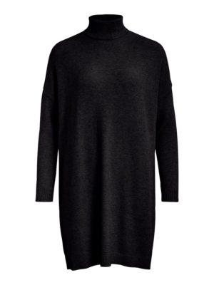 Vila viril rollneck l/s knit tunic black
